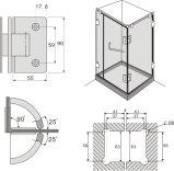 [فس202-90] زجاج إلى زجاجيّة غرفة حمّام وابل [دوور هينج] زجاجيّة
