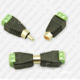 Koaxiales Cat5 weiblicher Verbinder-Adapter Kamera CCTVzum video Handels Balun RCA-Phono