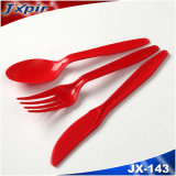 Jx143 새로운 PS 플라스틱 재사용할 수 있는 처분할 수 있는 칼붙이 (분류된 색깔)