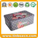 Прямоугольная металлическая подарочная упаковка кружка Тин в Рождество - подарочный набор