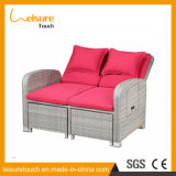 Modern Leisure Home Outdoor Garden Patio Weatherproof Hotel Aluminum EP Rattan Lounge Flesh Beach Wicker Sofa Bed Furniture