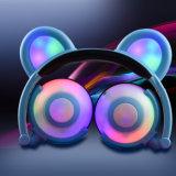 Cuffia d'ardore variopinta personalizzata sveglia di vendita calda dell'orecchio del panda