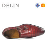 人のための二重Monlの本革の標準的な服靴