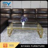 Mesa de centro del lustre del vector de cristal moderno de los muebles de la sala de estar alta