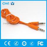 Тонкий способ вспомогательный кабель от 3.5mm до 3.5mm эластичный тональнозвуковой