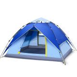 رياضة خارجيّة أسرة خيمة [بورتبل] يفرقع [كمب تنت] 3-4 أشخاص فوق خيمة