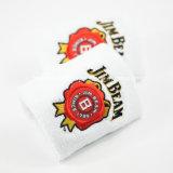 Fabrik Soem-Erzeugnis-kundenspezifisches Firmenzeichen gestickter Baumwollterry-Tuch-roter Handgelenk-BandSweatband