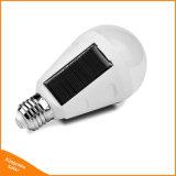 7W indicatore luminoso Emergency della tenda di campeggio della lanterna LED della lampadina della lampada E27 110V 220V del sensore di notte esterna ricaricabile solare portatile della carica