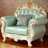 Wohnzimmer-ledernes Sofa mit Schränken für Hauptmöbel