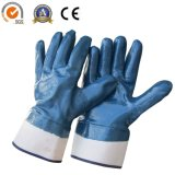 Gant deux fois plongé de travail industriel de sûreté de gants de nitriles d'épreuve de pétrole