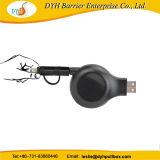 Portable 2 in 1 einziehbarer USB-Kabel-Bandspule für iPhone Android-Handy