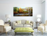 Árvore de bétula pesados pintados à mão pintura a óleo para paredes
