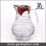 Bowknot-Entwurfs-hoher weißer materieller Glaskrug (GB1114HDJ)