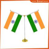 工場直接安くカスタマイズされた編まれたポリエステル表のインド人のフラグ