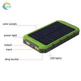 8000mAh de energía solar cargador de batería externa resistente al agua banco