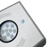 12W avec capteur de lumière solaire LED pour éclairage de rue de jardin