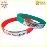 Wristbands concavi poco costosi del silicone di parola con il vostro marchio