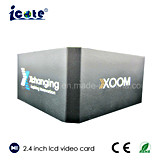 2.4 pulgadas LCD Video Nombre de la empresa Tarjeta con 4 GB de memoria