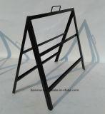 Estante de visualización del marco del cartel del metal del suelo