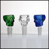 Mezcla de colores de 14,4 mm y 18,8 mm de tubo de agua común de cráneo de cristal ACCESORIOS FUMADOR Bowl