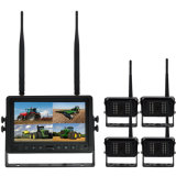 "4CH Quad Digital Wireless carretilla espejo cámara con monitor de 7"""