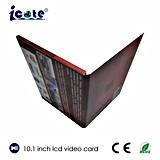 """선물 광고를 위한 OEM 형식 디자인 10.1 """" LCD 영상 브로셔"""