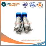 Aluminiumflöte-flache Enden-Tausendstel des ausschnitt-Karbid-3