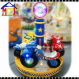Muntstuk van de groef stelde de Carrousel van de Jonge geitjes van de Machines van het Spel van de Arcade van de Rit Moto in werking