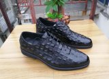 Zapatos ocasionales de la boda de la alineada de los hombres del estilo italiano de Brown del cuero genuino