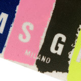 Etiqueta a todo color de la escritura de la etiqueta del rectángulo con las cuerdas