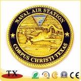 Medaglia su ordinazione della cavalleria del blu marino della moneta del ricordo della medaglia dell'oro