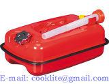 Red Horizontal de 5L bidón de gasolina del depósito de combustible de acero para barco/4WD/COCHE/Camping Boquilla incorporada