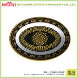 Plaque ovale de mélamine de catégorie comestible de consommation quotidienne de Homeware de forme