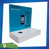인쇄하는 디지털을%s 가진 파란과 백색 LED 아크릴 반대 전시, L 대 아크릴 진열대 제조자