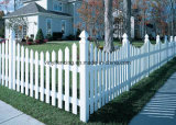 Classic Wide Picket Vinyl Fence