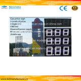 6inch segno di prezzi di gas del totem LED di CREE bianco LED