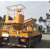 Dongfeng 14のメートル油圧連結されたブームの空気のバケツのトラックの空気の上昇
