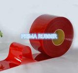 A cortina macia flexível da tira do PVC marcada e alisa o vermelho de superfície