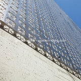 Revêtement en poudre Anti-Seismic haute résistance panneau architectural en métal pour revêtement de toit plafond soffites//