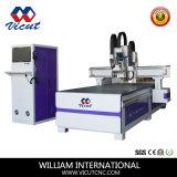 Máquina de estaca do CNC com cabeça da broca do eixo e CCD