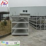 Système d'aménagement entreposant le défilement ligne par ligne en acier de panneau