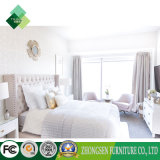 عالة - يجعل أبيض حديثة خشبيّة فندق أثاث لازم غرفة نوم سرير إطار ([زبس-865])