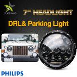 Il Wrangler impermeabile DRL 75W arrotonda un faro da 7 pollici LED per la jeep