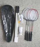 De aangepaste die Rackets van het Badminton voor het Spel van 4 Persoon worden geplaatst