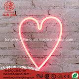 Luz de néon da decoração da parede do Signage do coração do Natal ao ar livre