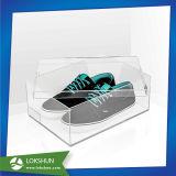 ふたが付いている卸し売りTrasparentの明確なアクリルの靴箱