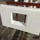 台所部屋のための純粋で白い水晶石のカウンタートップ