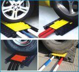 Borracha amarela e preta 5 canais de proteção externa para cabos