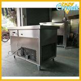 El helado frito Precio Máquina de rodillos con armario de almacenamiento