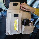 Il feltro spesso economico dei capelli Multi-Usa il sacchetto ecologico di memoria dell'automobile dell'organizzatore della parte posteriore di sede dell'automobile del supporto del telefono della casella del tessuto